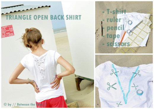 Triangle open back shirt | From Between the lines