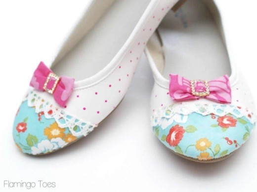 Shoe Refashion DIY flats | Flamingo Toes