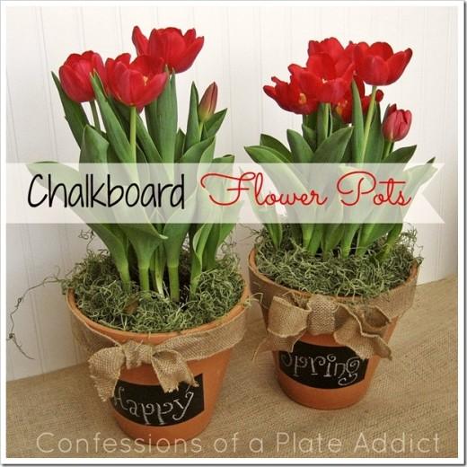 A Fun and Versatile Gift Idea…DIY Chalkboard Flower Pots
