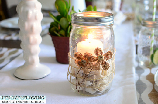 Candle Craft in a Jar – Beachy Theme