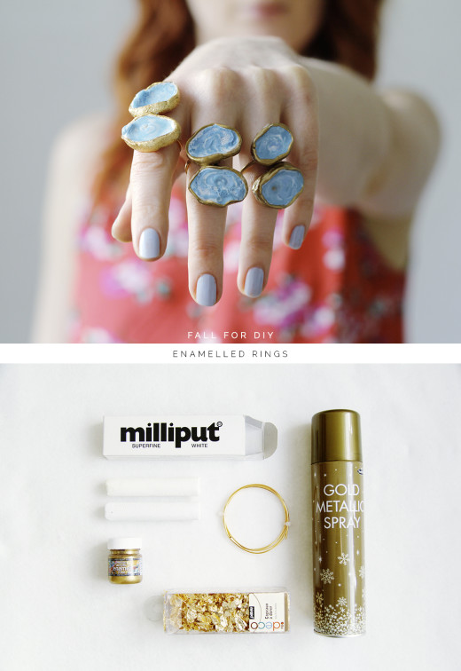 DIY Enamelled Rings