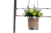 DIY: Hanging Metal Planter  | From M&J Blog