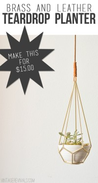 DIY Leather and Brass Teardrop Hanging Planter – Vintage Revivals