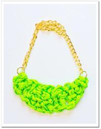 DIY: Neon Paracord Knot Necklace  | Court + Hudson