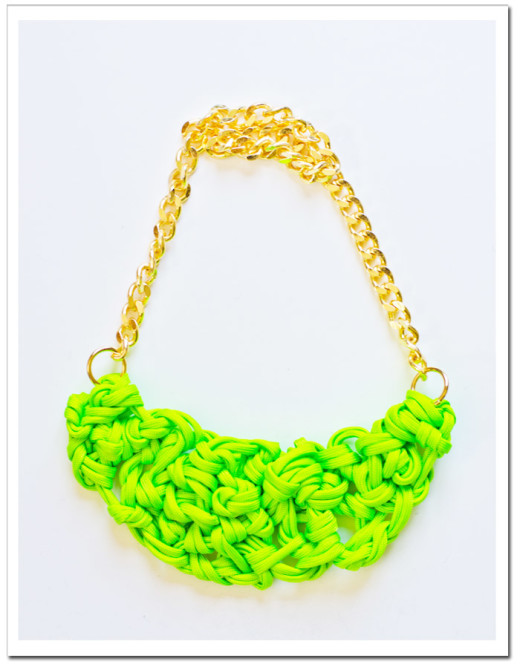 DIY: Neon Paracord Knot Necklace  | Court + Hudson