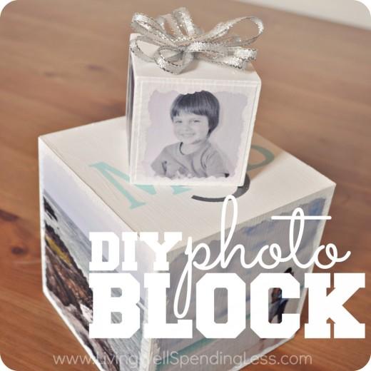 DiY Photo Block | How to Make a Photo Block Gift | Handmade Holidays