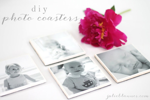 DIY Photo Coasters – Coordinately Yours by Julie Blanner | Mothers Day Gift Ideas