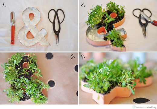 DIY Planted Ampersand | From My Crafty Spot