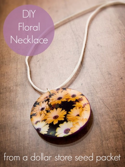 DIY seed packet necklace. | From Mod Podge Rocks