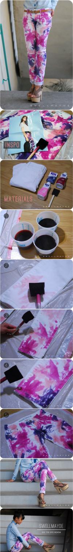 DIY Tie Dye Denim   From swellmayde