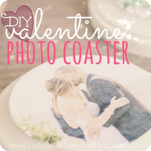 DIY Valentine Photo Coasters | Photo Coasters | Valentine Gift Ideas