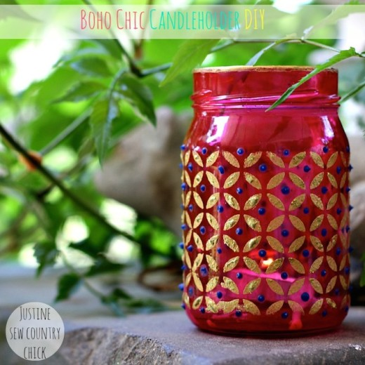 Easy boho chic mason jar candle holders – Mod Podge Rocks