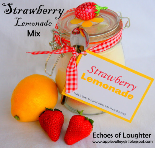 Echoes of Laughter: Strawberry Lemonade Mix… | DIY Gift Idea