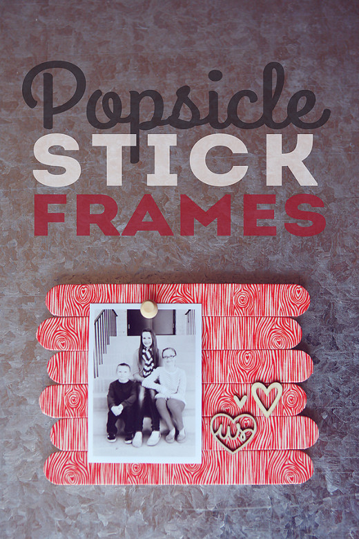 DIY Popsicle Stick Frames from eighteen25