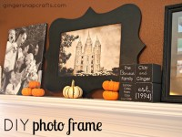 Ginger Snap Crafts: DIY photo frame using your Silhouette Cameo