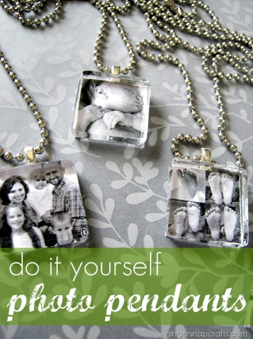 DIY photo pendants from Ginger Snap Crafts