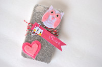 Glittery Owl Cellphone Case From Spark & Chemistry