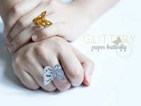 Glittery Paper Butterfly on ring | onelmon
