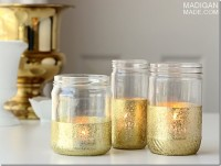 DIY Gold Dipped Jars