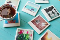 DIY Photo Polaroid Coasters from GRANNY GIRLS