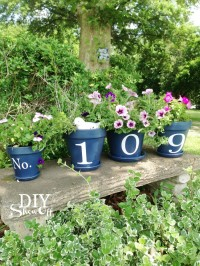 House Number Flower Pots | From DIY Show Off ™
