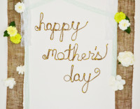 Roped Mother's Day Sign From Spark & Chemistry