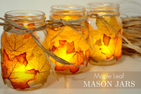 Leaf Mason Jar Candle Holder From Spark & Chemistry