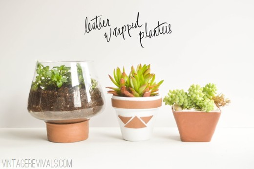 Leather Wrapped Planters – Vintage Revivals
