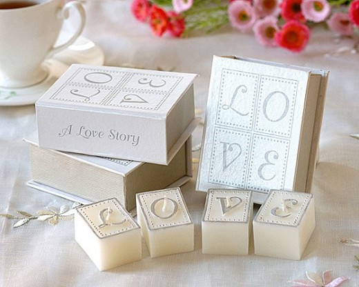 Love Letters Book Candle Romantic Valentine's, Mothers Day Candle Wedding Candle