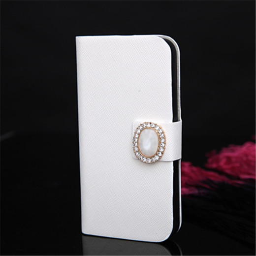 Luxury Cat's Eye Decorate PU Leather Skin Case Cover for iPnone 5/5s DIY Kit