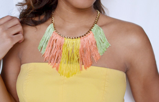 DIY Fringed Necklace From Spark & Chemistry
