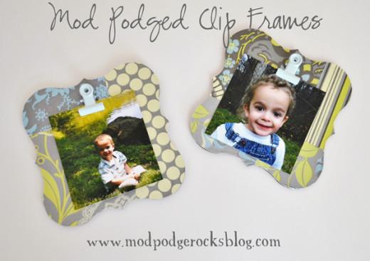 Make a Mod podge clip frame DIY | Mod Podge Rocks