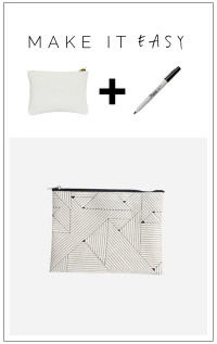 DIY Geometric Design Zippie Purse