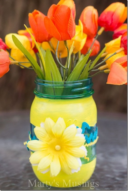 DIY Mason Jar Vase | Mothers day Gifts