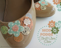 Mod Podge Shoes {Thrift Store Finds} – A Little Claireification