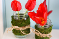 Moss and Twine Wrapped Mason Jars – The Pretty Bee
