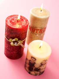 Photo-Embellished Candles