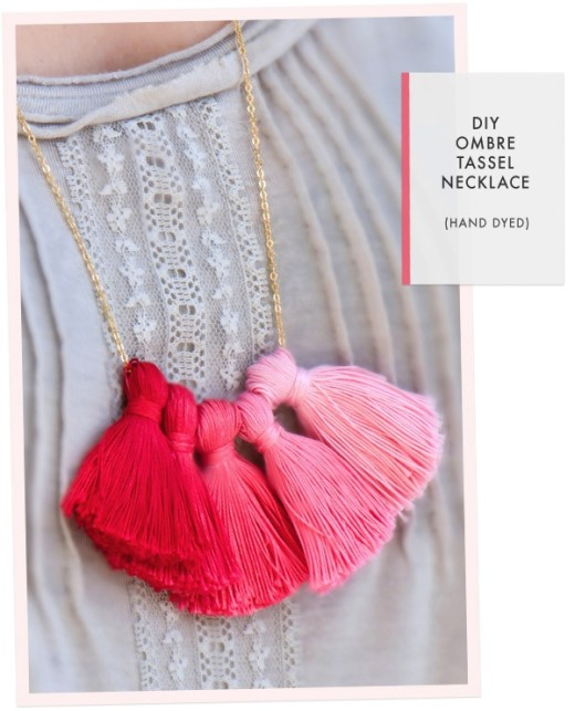 DIY Ombre Tassel Necklace | From Oh the lovely things