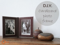 DIY Cardboard photo frame