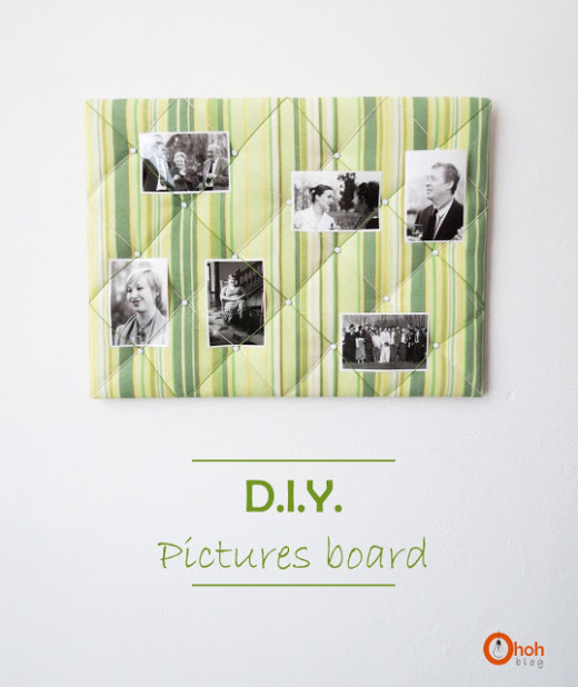 DIY pictures board from Ohoh Blog – diy and crafts
