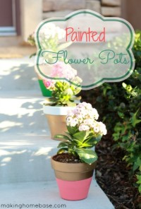 DIY Painted Flower Pots
