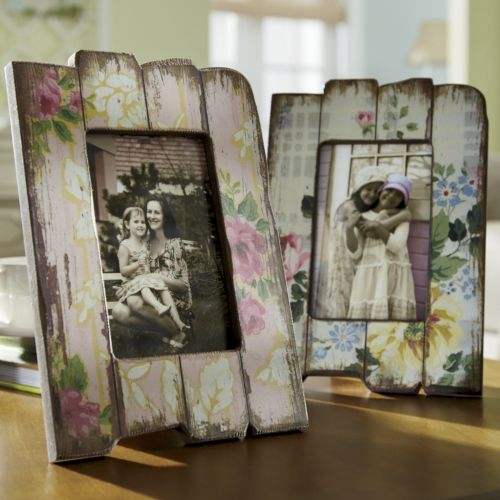 Photo Frame Shabby Chic From Through The Country Door Diy Crafts