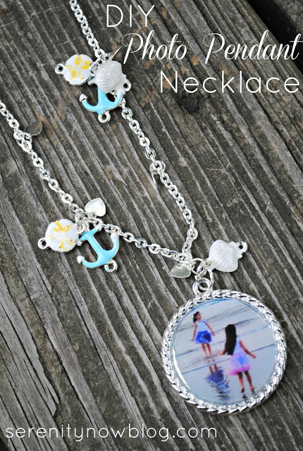 "Serenity Now: Beach ""Memory"" Photo Pendant Necklace (with Martha Stewart Jewelry)"