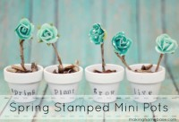 DIY Stamped Mini Pots