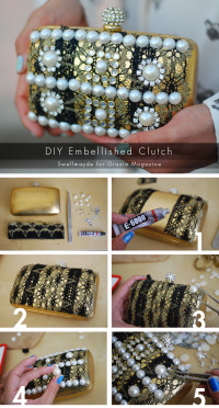 DIY Baroque Embellished Clutch | From swellmayde