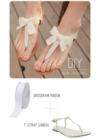 DIY Bow Sandal | From swellmayde