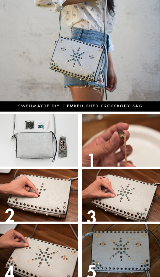DIY EMBELLISHED CROSSBODY BAG | From swellmayde
