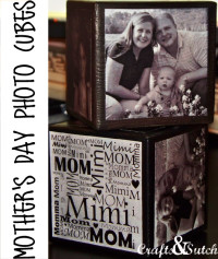 Cute Photo Cubes. Mothers Day Gift