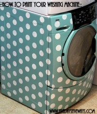 How to Paint a Washing Machine | From M is for Mama