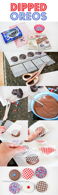 PATRIOTIC dipped oreos – TUTORIAL From TWO BLONDES